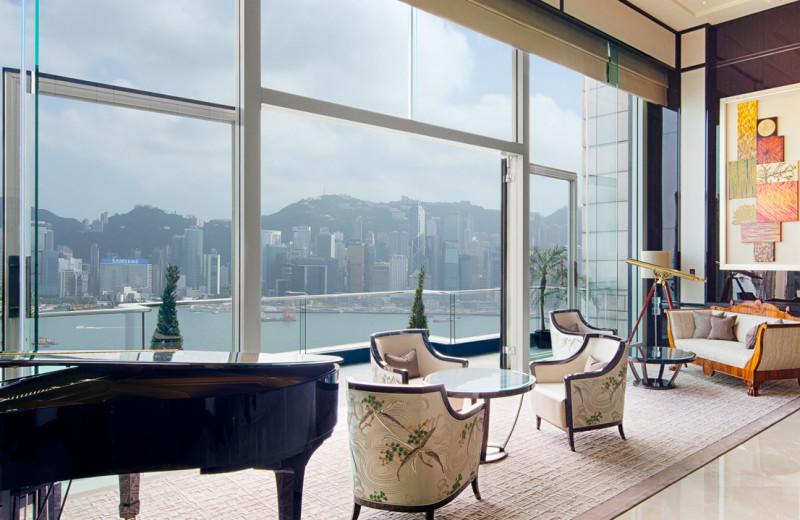 Guest suite at The Peninsula Hong Kong.