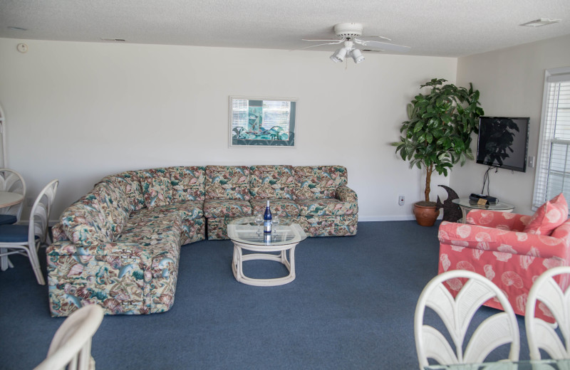 Rental living room at The Winds Resort Beach Club.