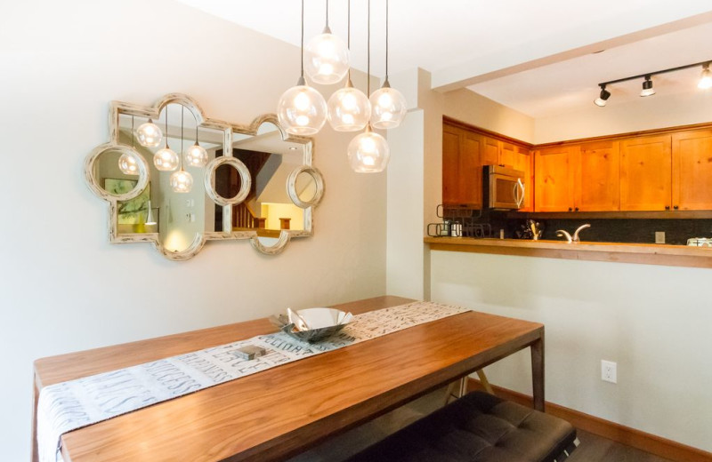 Rental kitchen at Whistler Breaks.