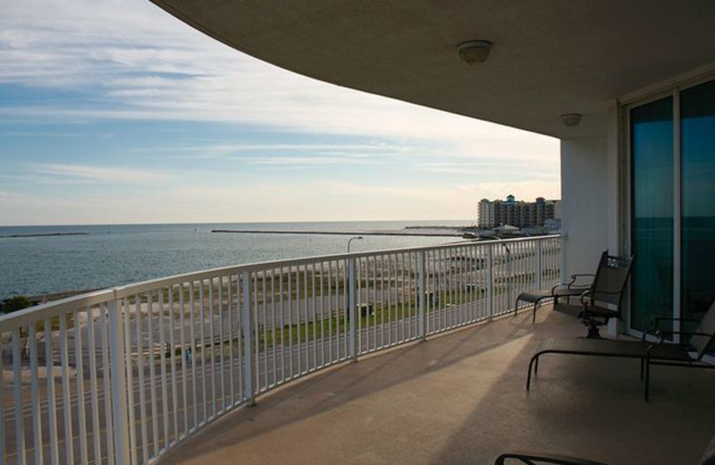 Rental balcony view at Paradise Gulf Properties.
