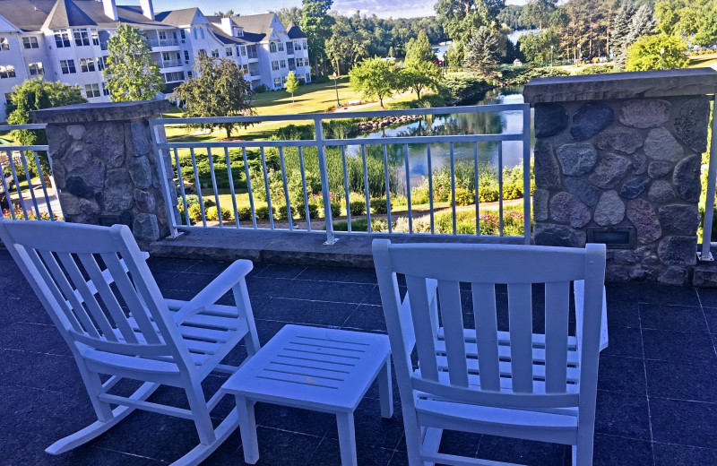 Guest balcony at The Osthoff Resort.