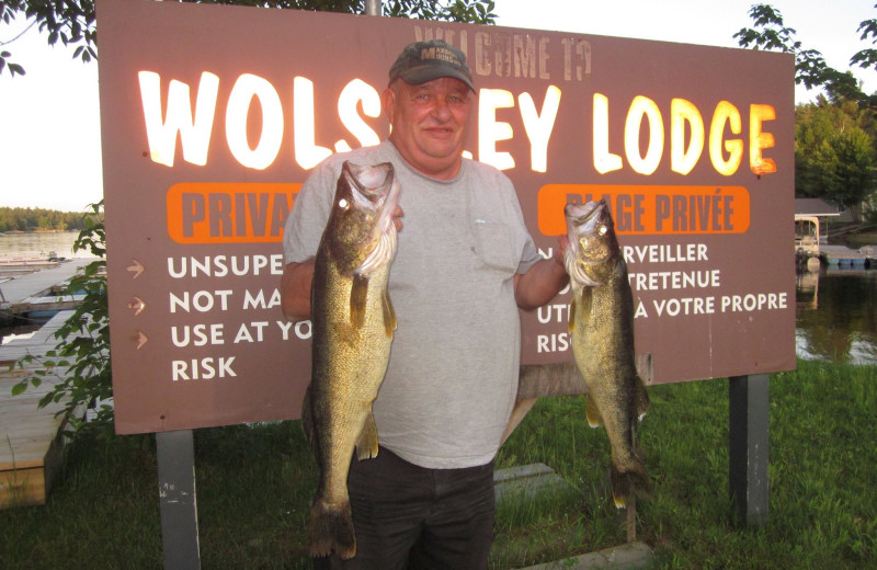Fishing at Wolseley Lodge.