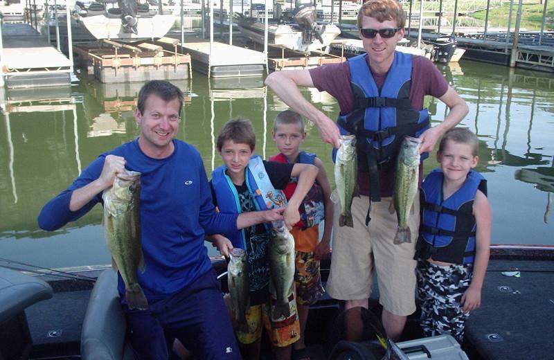 Fishing with family at Big Bear Resort.