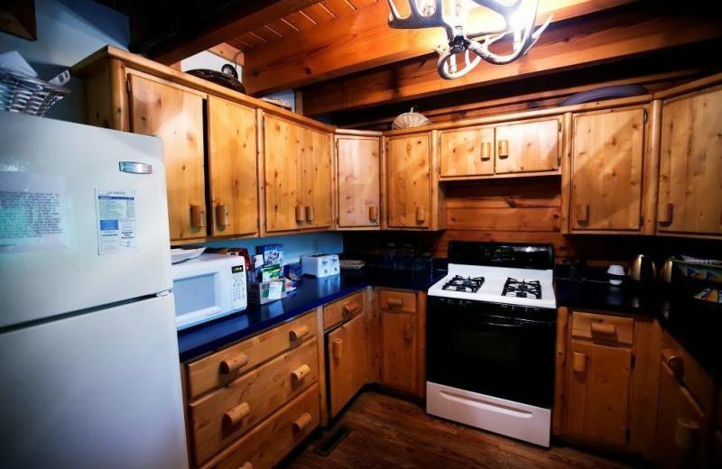Guest kitchen at Cliffview Resort.