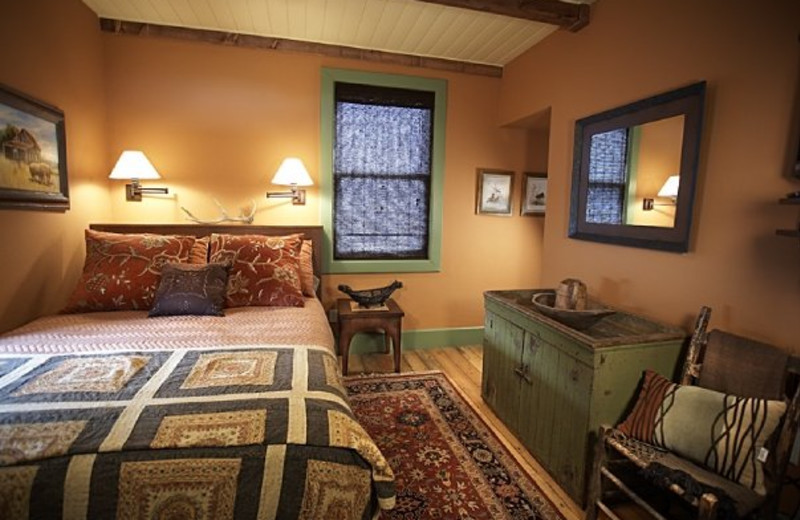 Farmhouse bedroom at Cottonwood Meadow Lodge.