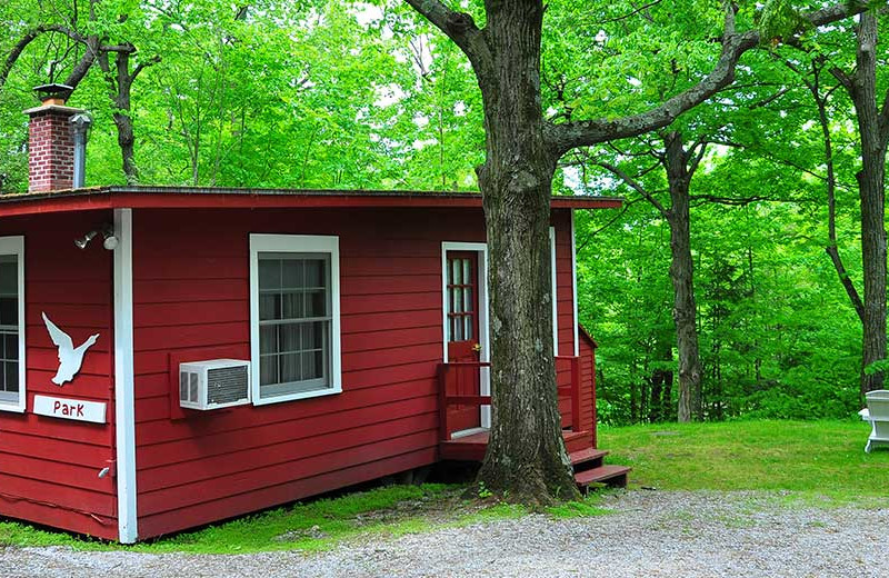 Cabin exterior at Tyler Place Family Resort.