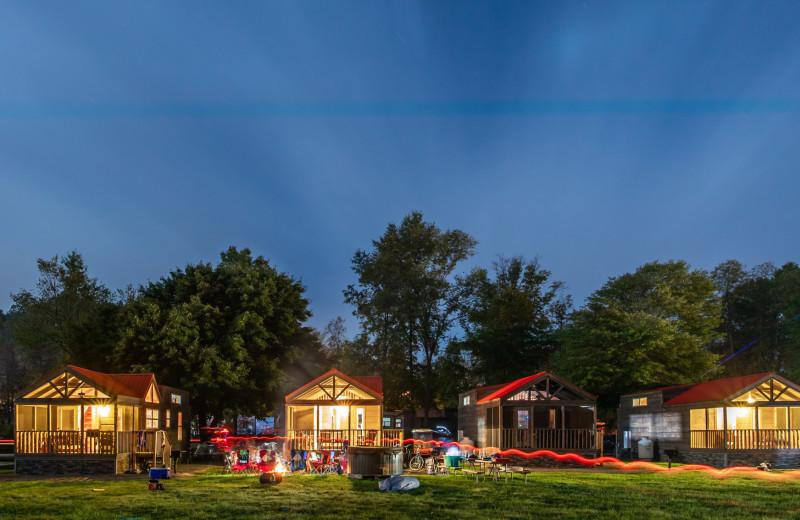 Cabins at Yogi Bear's Jellystone Park™ Camp-Resort in Gardiner, NY.