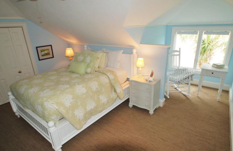 Rental bedroom at East Islands Rentals.