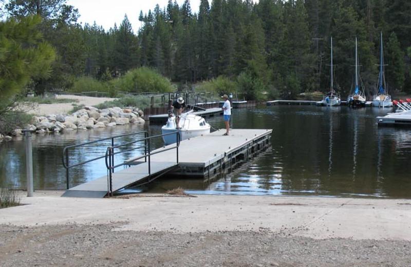 Boat landing at Meeks Bay Resort & Marina.