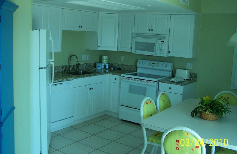 Suite Kitchen at Coconut Palms Beach Resort