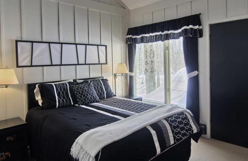 Condo bedroom at Hawk's Eye Golf Resort.