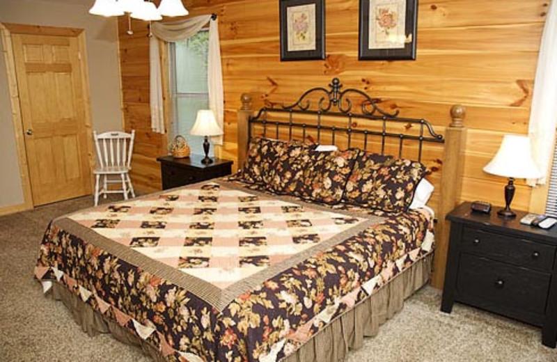 Vacation Rental Bedroom at Volunteer Cabin Rentals