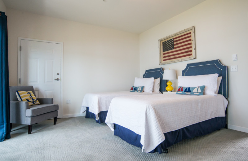 Guest room at Linekin Bay Resort.