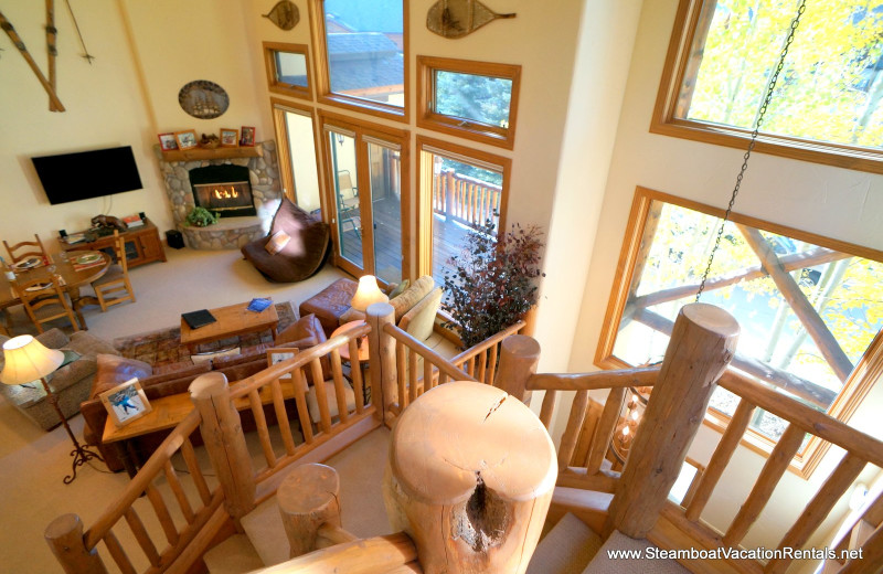 Rental living room at Steamboat Vacation Rentals.