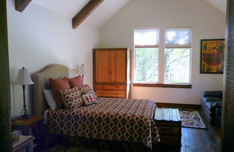 Guest room at Moose Creek Ranch.