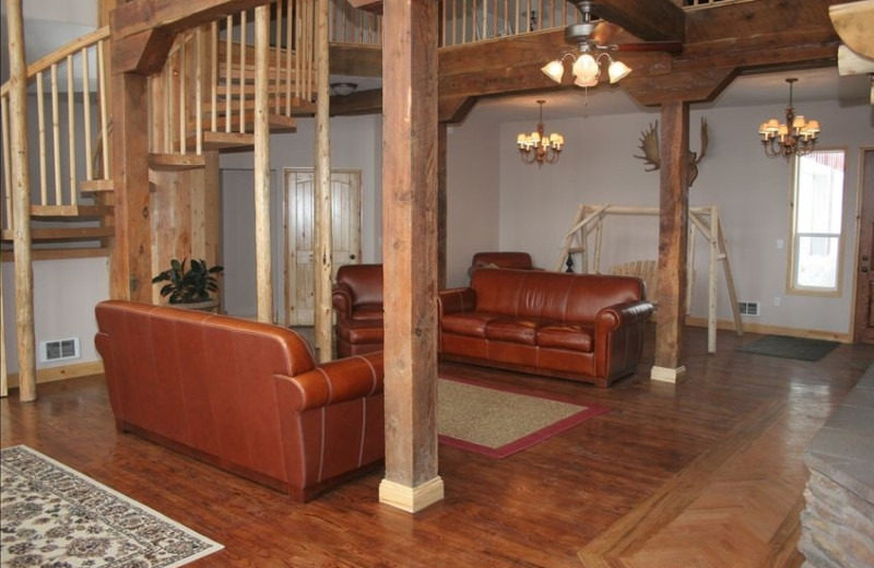 Living room area at Fall River Lodge.