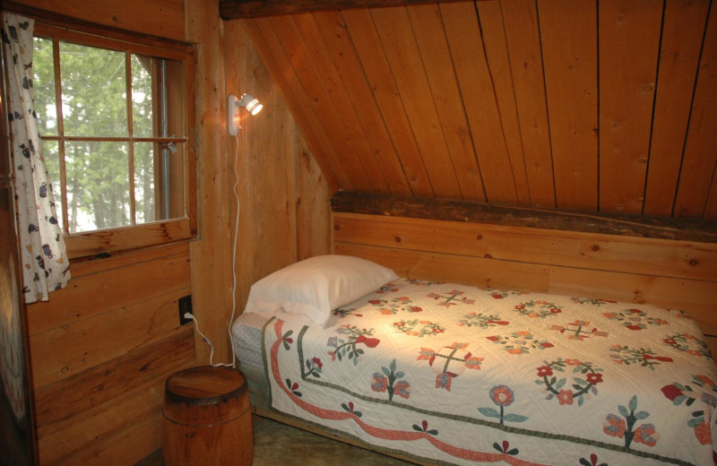 Cabin bed at Heston's Lodge.