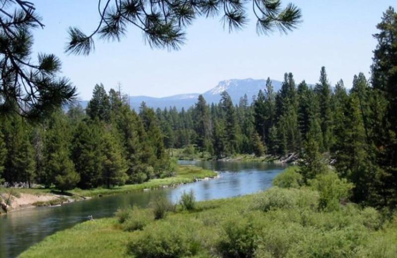 Lake view at Vacasa Rentals Sunriver.