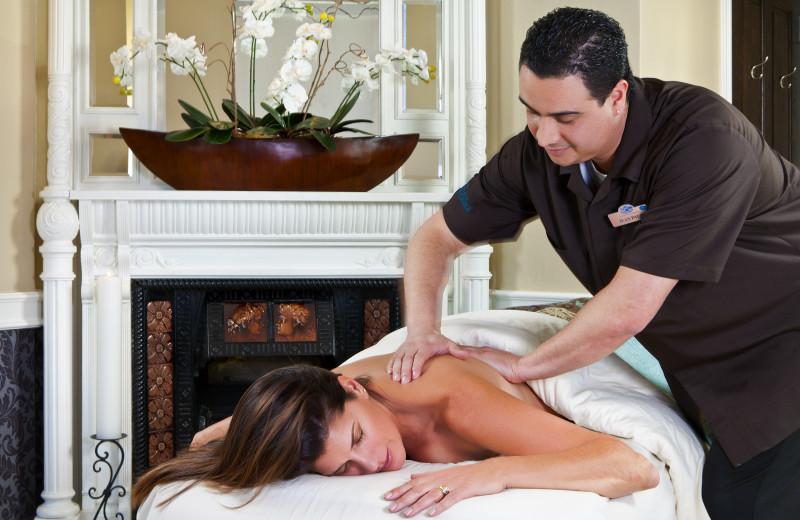 Back massage at Glenwood Hot Springs.