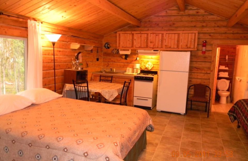 Cabin interior at Real Alaskan Cabins & RV Park.