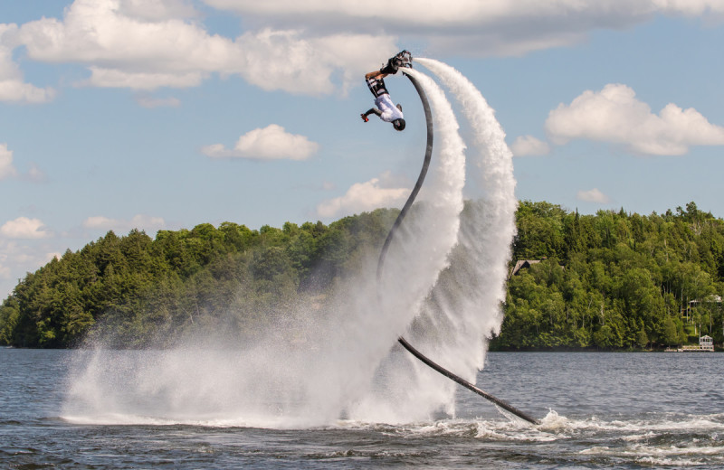 Flyboarding at Deerhurst Resort.