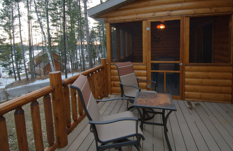 Villa deck at Wilderness Resort Villas.