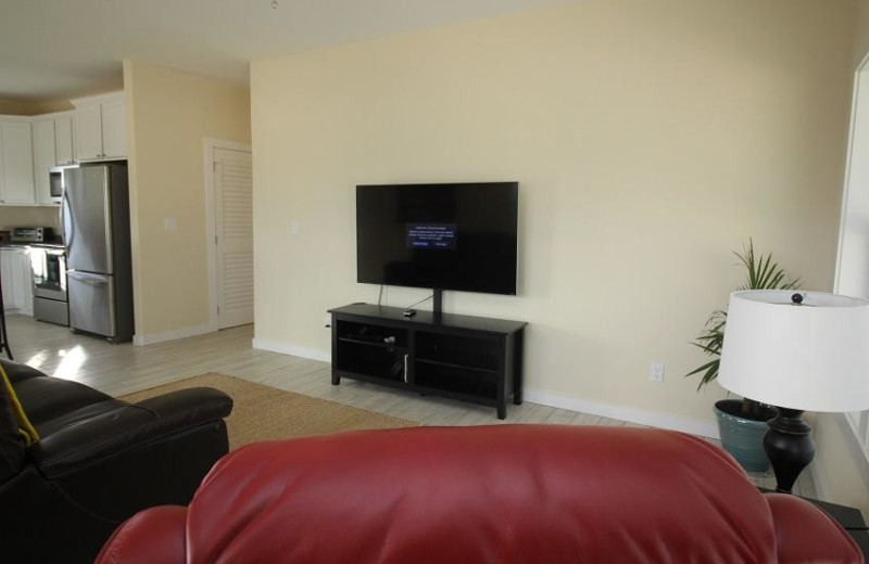 Rental living room at Sugar Sands Realty & Management.