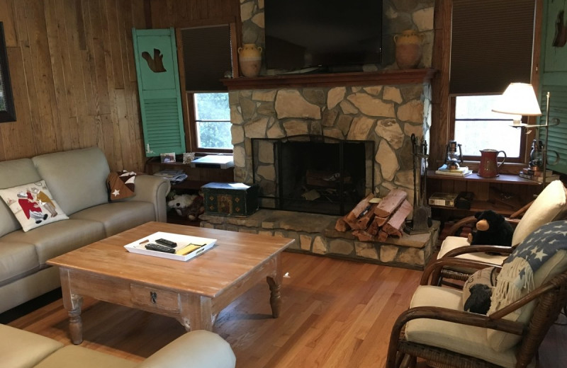 Rental living room at Chambers Realty & Vacation Rentals.