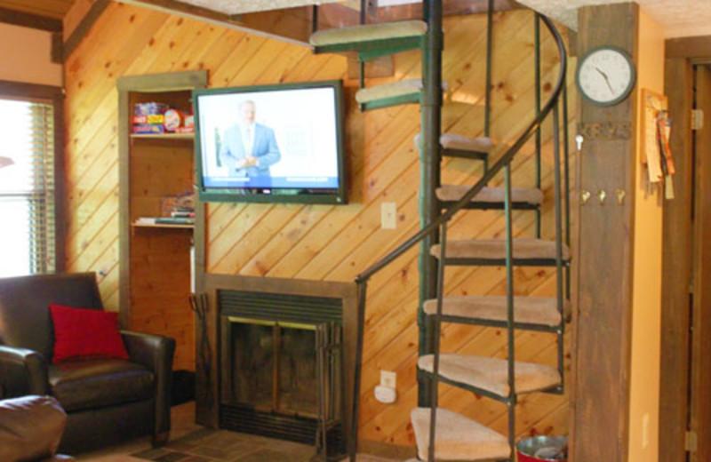 Vacation rental interior at Black Bear Resort.