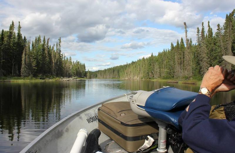 Fishing at Woman River Camp