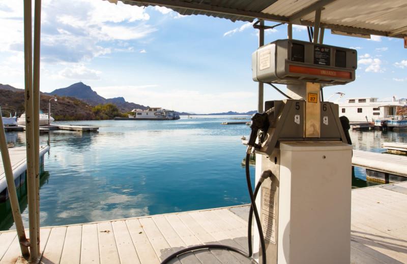 Boat gas station at Havasu Springs Resort.