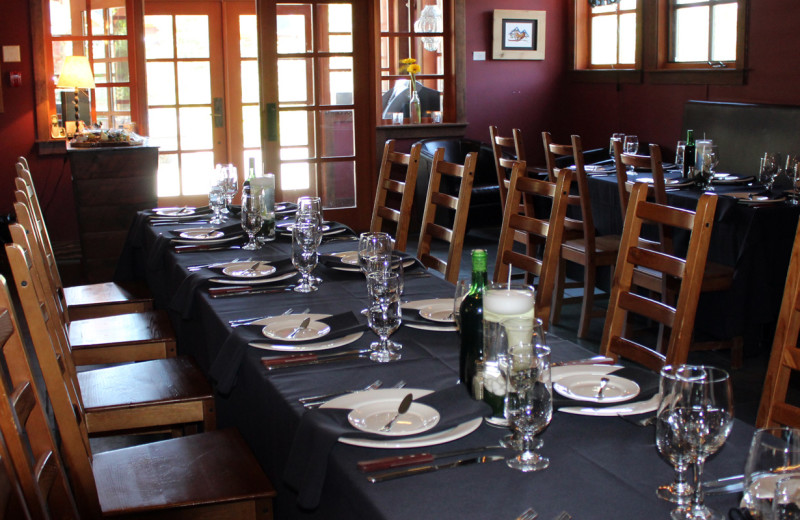 Dining at Copper Horse Lodge.