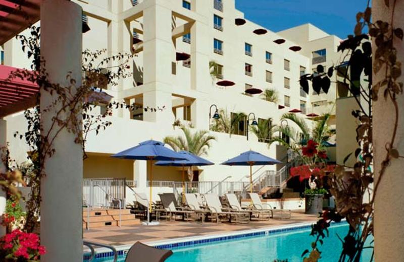 Outdoor pool at Le Merigot Beach Hotel & Spa.