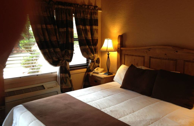 Guest bedroom at Old Creek Resort.