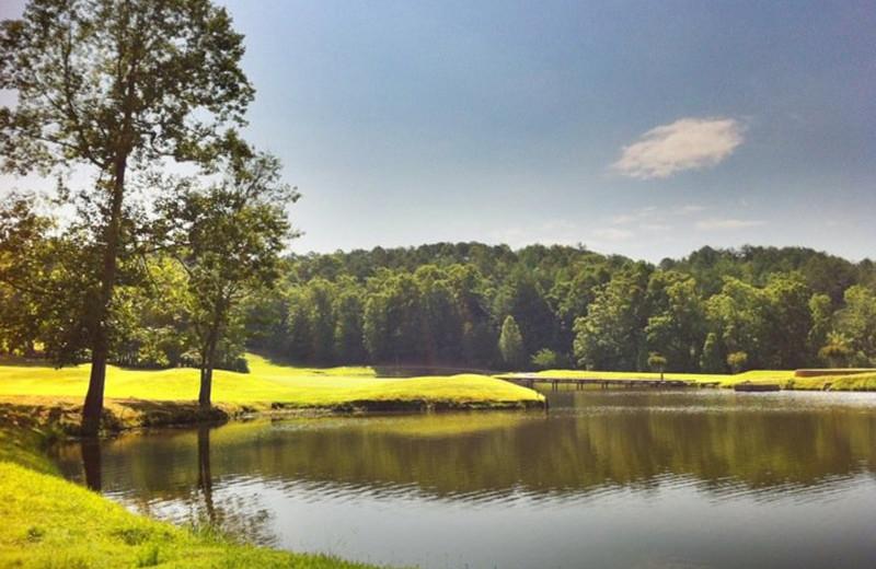 Golf course at Valhalla Resort Hotel.