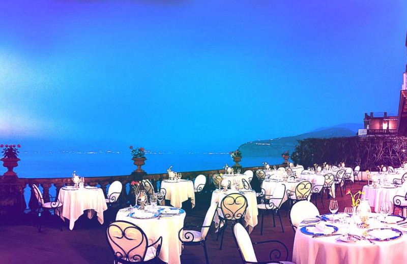 Dining at Grand Hotel Excelsior Vittoria.