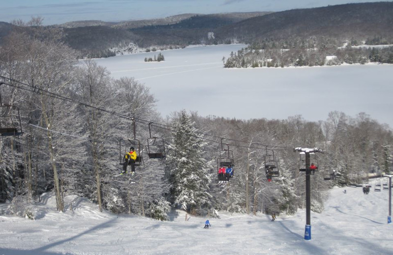 Skiing near Sandy Lane Resort.