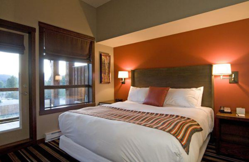 Guest bedroom at First Tracks Lodge.
