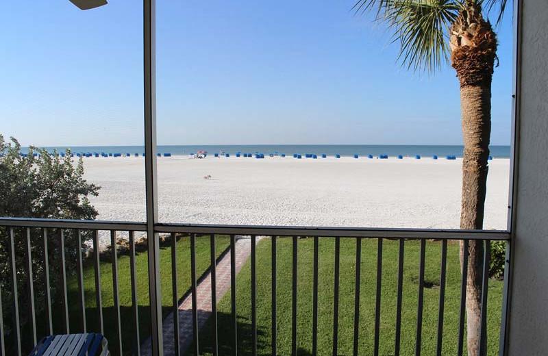 Balcony view at Gulfview Manor Resort.
