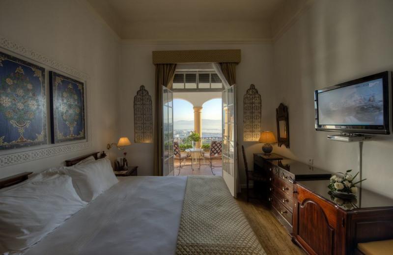 Guest room at Hotel El Minzah.