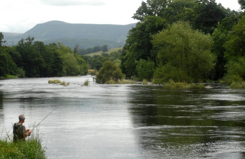 Fishing at Caer Beris Manor.