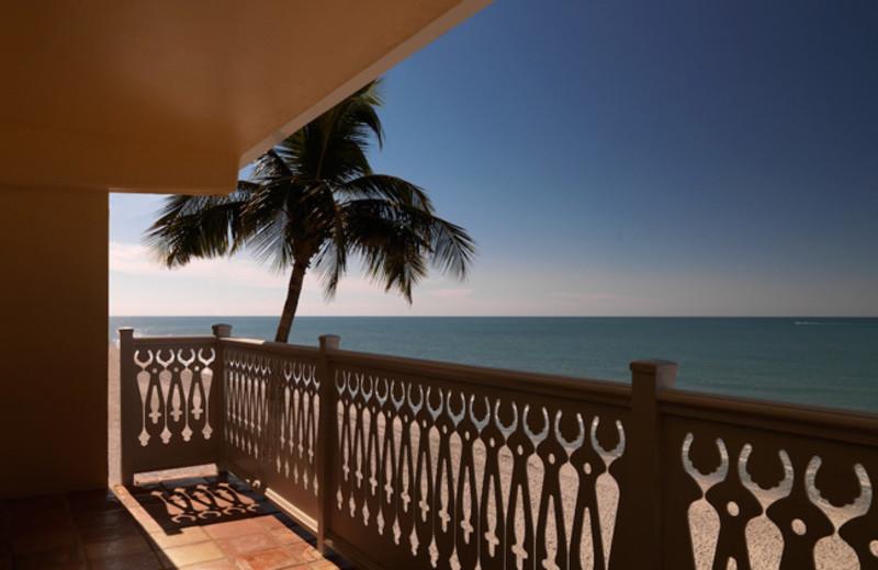 Balcony view at Edgewater Beach Hotel.