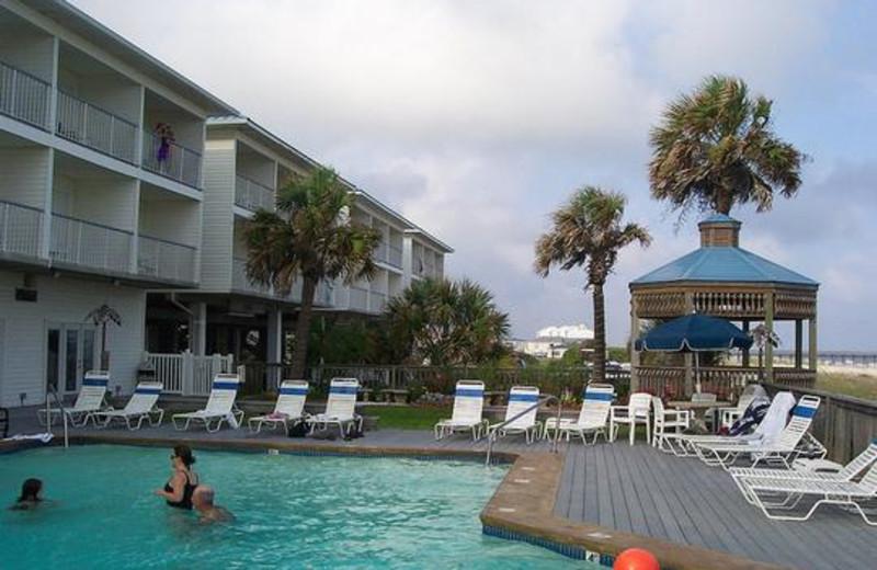 Pool view at Ocean Isle Inn.