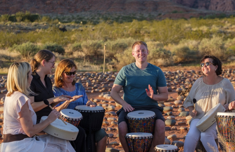 Drumming at Red Mountain Resort & Spa.