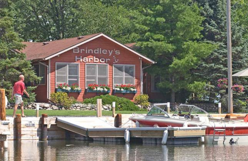 Exterior view of Brindley's Harbor Resort.