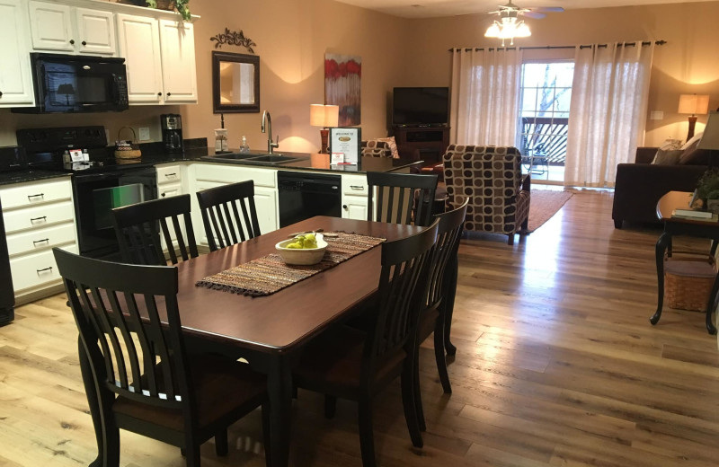 Guest kitchen at Vickery Resort On Table Rock Lake.