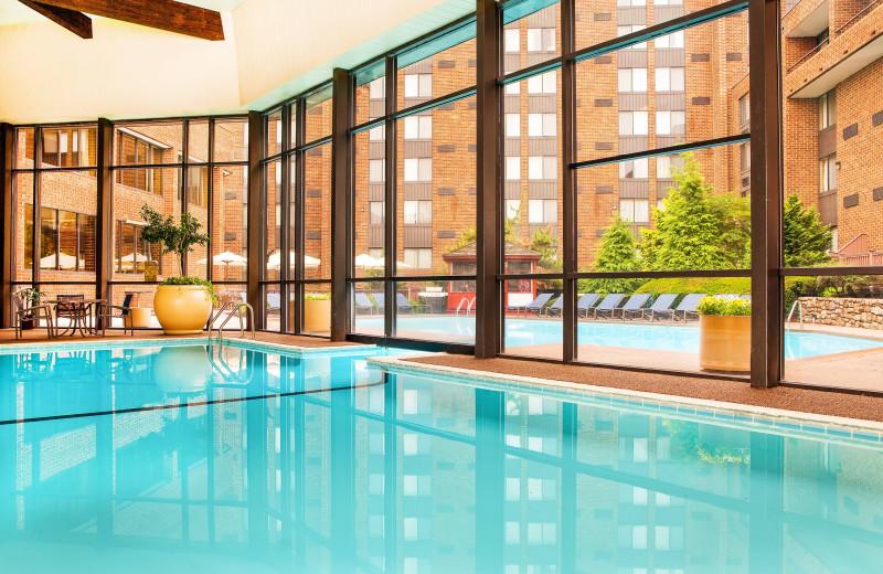 Indoor pool at Sheraton Harrisburg Hershey Hotel.