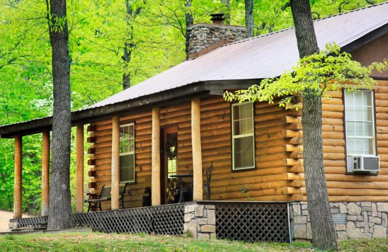 Cabin Exterior at Hidden Hollow Cabins