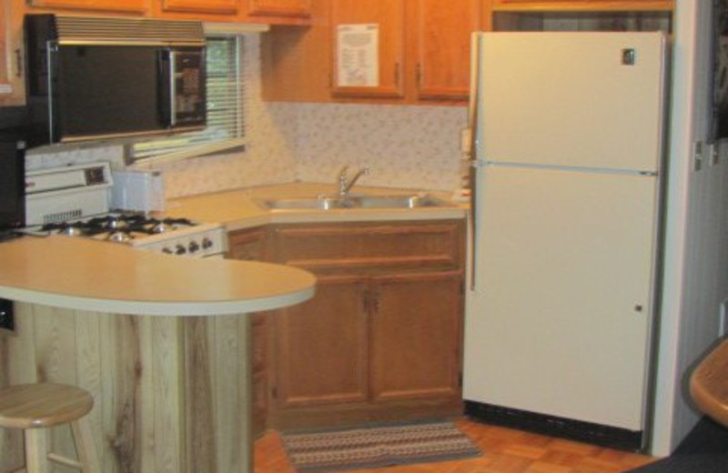Cabin Kitchen at Baraboo Hills Campground