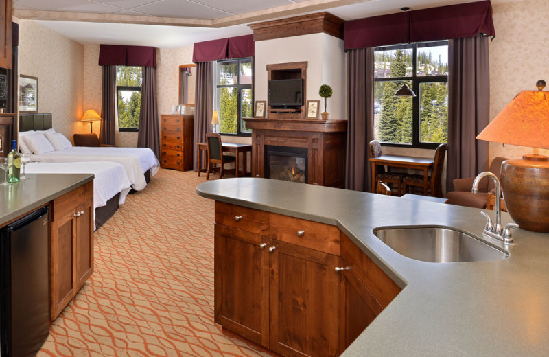 Guest suite at The Lodge at Big Sky.